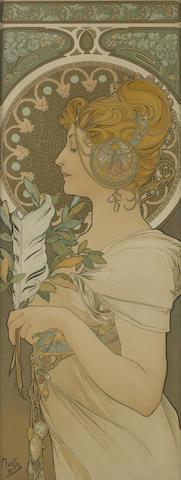 Alphonse Mucha (Czech, 1860-1939); La Plume;