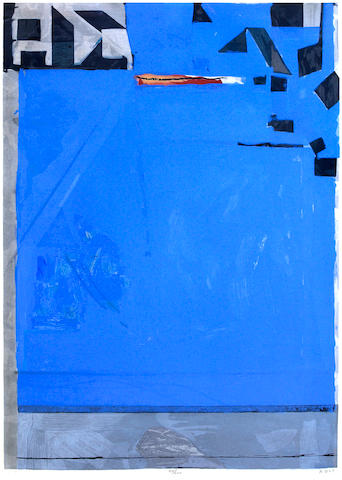 Richard Diebenkorn (American, 1922-1993); Blue with Red;