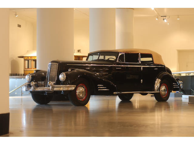 In the Museum's collection since 1949, one of four known to exist with unique features,1936 Cadillac Series 90 V-16 Convertible Sedan  Chassis no. 51102222