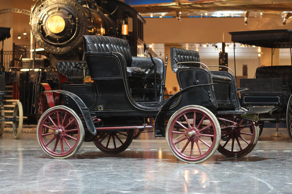 Two owners since new, in the Museum's collection since 1932, secured for the museum by Charles E. Dureyea,1904 Stevens-Duryea Model L Runabout  Chassis no. 219 Engine no. 195