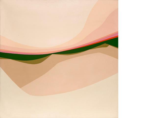Helen Lundeberg (American, 1908-1999) Landscape, 1969 20 x 20in (51 x 51cm)