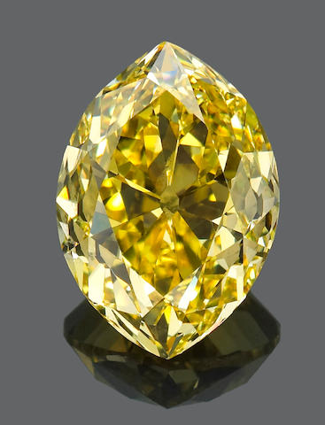An unmounted fancy colored diamond