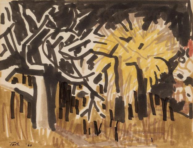 David Park (American, 1911-1960) Study C-831, 1960  8 1/2 x 11in (22 x 28cm)