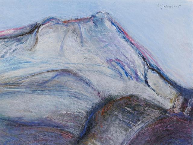 Gregory Kondos (American, born 1923) Mont Sainte-Victoire, Aix en Provence, 2005 9 x 12in (23 x 30cm)