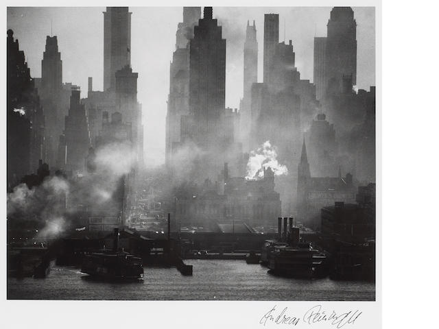 Andreas Feininger (French, 1906-1999); 42nd Street as Viewed from Weehawken;