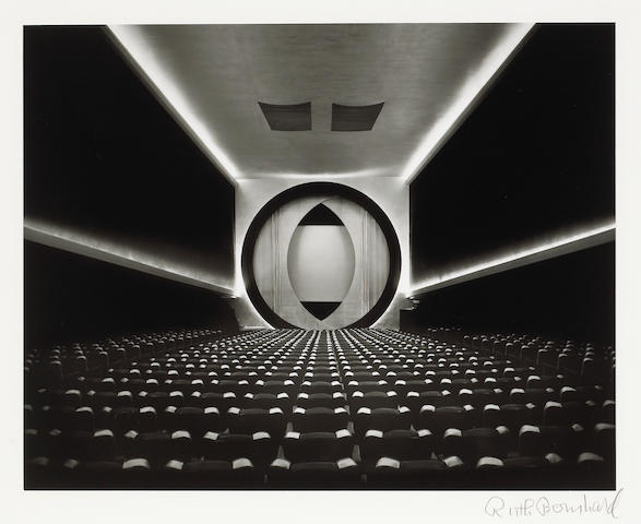Ruth Bernhard (American, 1905-2006); Eighth Street Movie Theater, N.Y./Frederick Kiesler-Architect;
