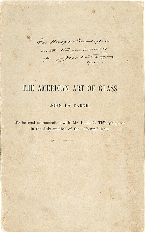 LA FARGE, JOHN. 1835-1910.
