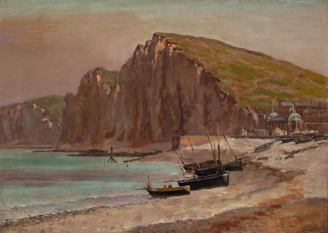 William Baptiste Baird (American, 1847-1899) Coastal Scenes (2) each 13 1/4 x 18 1/4in