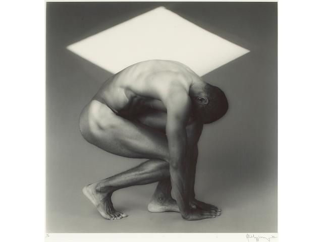 Robert Mapplethorpe (American, 1946-1989); Thomas with White Triangle;