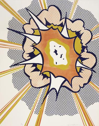 Roy Lichtenstein (American, 1923-1997); Explosion, from Portfolio 9;