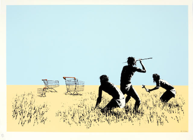 Banksy (British, born 1975); Trolleys;