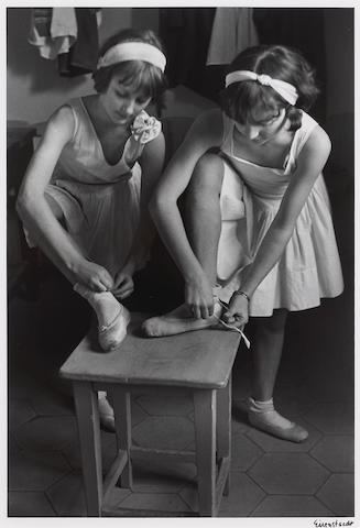 Alfred Eisenstaedt (American, 1898-1995); Young Girls at Ballet School, La Scala Milan, Italy;