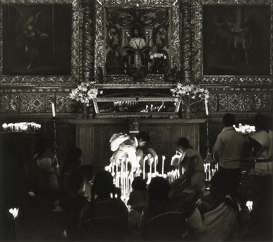 Max Yavno (American, 1911-1985); San Cristobal Church Interior, Mexico;