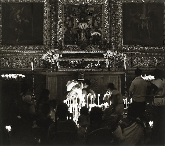Max Yavno (American, 1911-1985); San Cristobal Church Interior, Mexico;