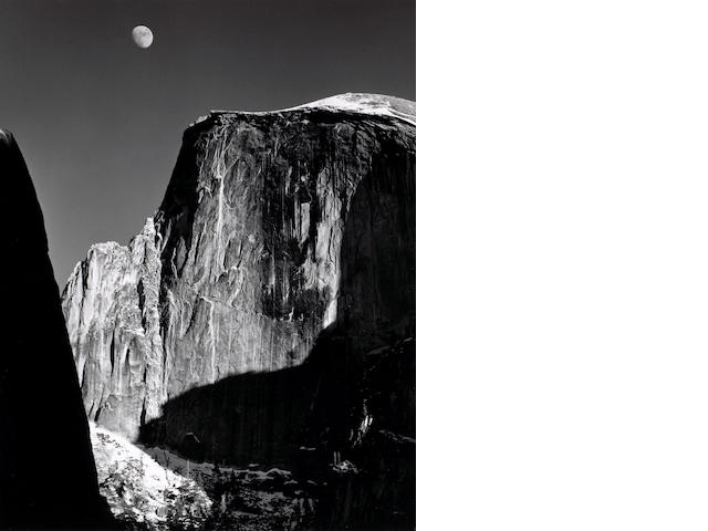 Ansel Adams (American, 1902-1984); Moon and Half Dome;