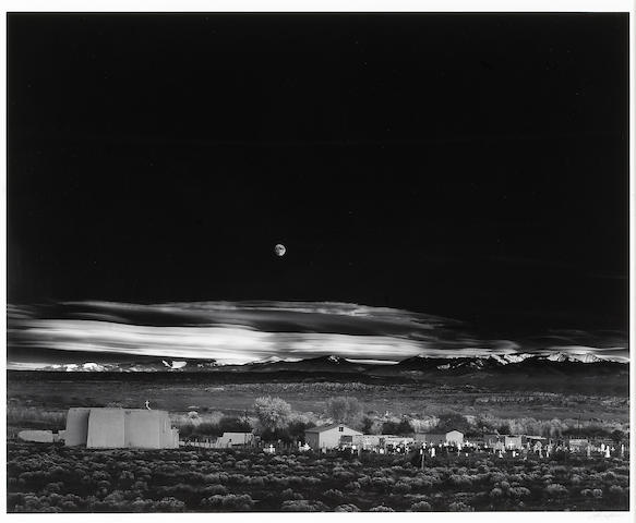 Ansel Adams (American, 1902-1984); Moonrise, Hernandez, New Mexico;