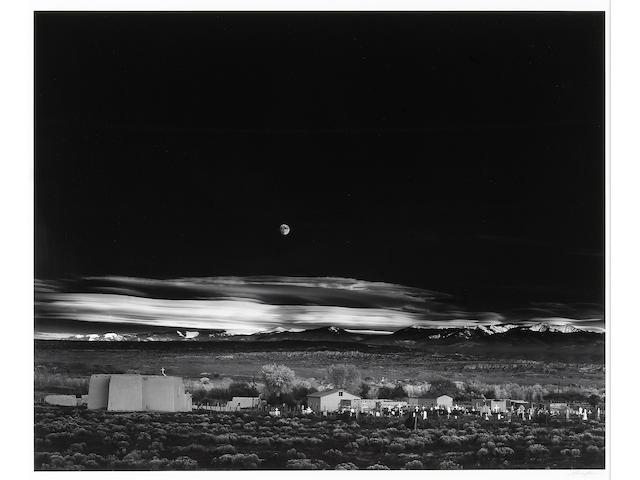 Ansel Adams (American, 1902-1984); Moonrise, Hernandez, New Mexico;