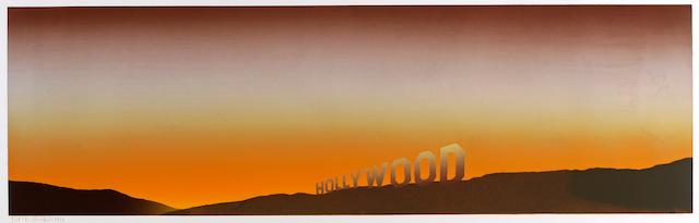 Edward Ruscha (American, born 1937); Hollywood;