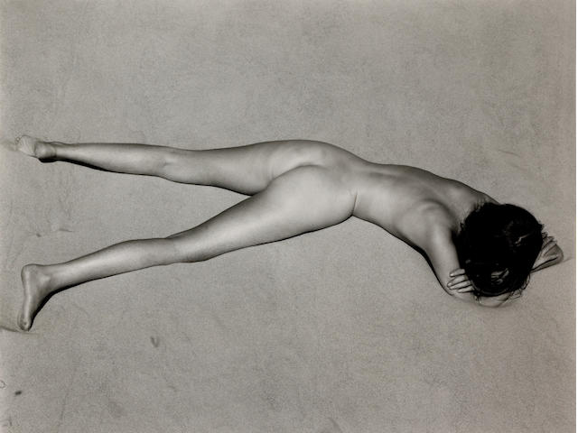 Edward Weston (American, 1886-1958); Nude on Sand, Oceano;