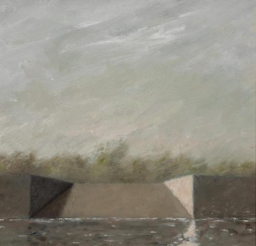 Gordon Cook (American, 1927-1985) Sacramento River, Boat Ramp 9 x 9 1/2in (23 x 24cm)