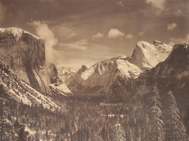 Ansel Adams (American, 1902-1984); Yosemite Valley from Inspiration Point, Winter, Yosemite National Park;