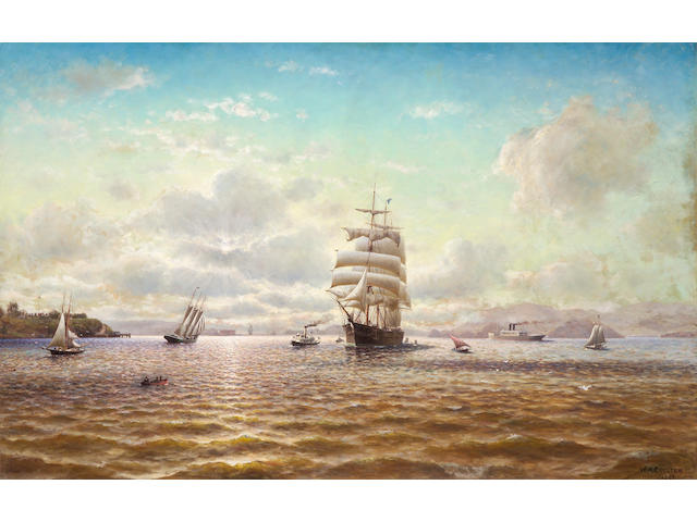 William Coulter Sailing Ships in the San Francisco Bay 52 1/2 x 83 1/2in