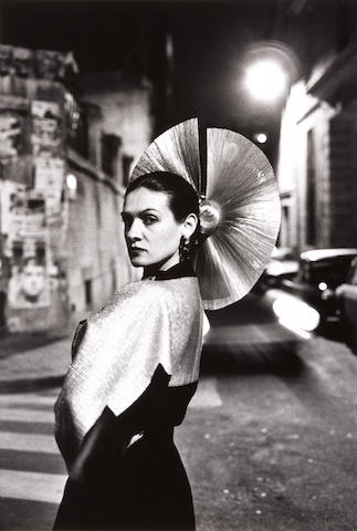 Helmut Newton (German, 1920-2004); Portrait of Paloma Picasso in a Dress by Karl Lagerfeld, Paris;