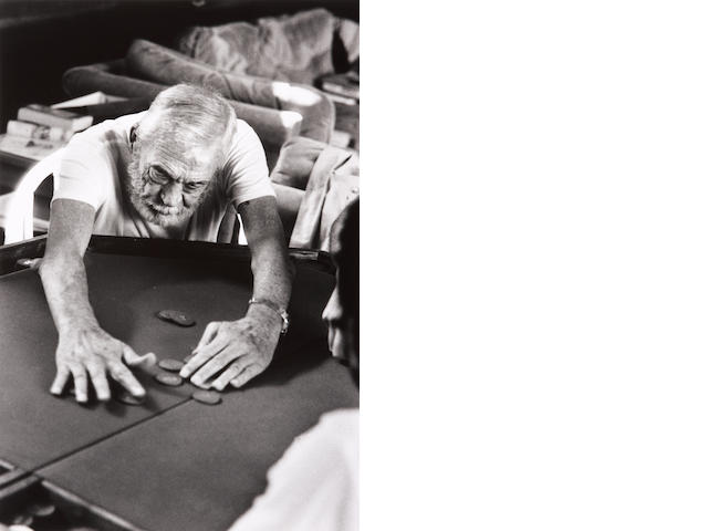 Helmut Newton (German, 1920-2004); John Huston, Playing Poker, Los Angeles;