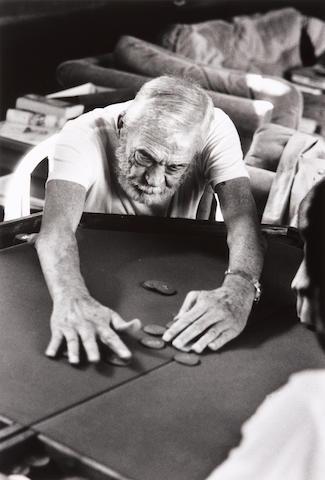 Helmut Newton (German, 1920-2004); John Huston, Playing Poker, Los Angeles;
