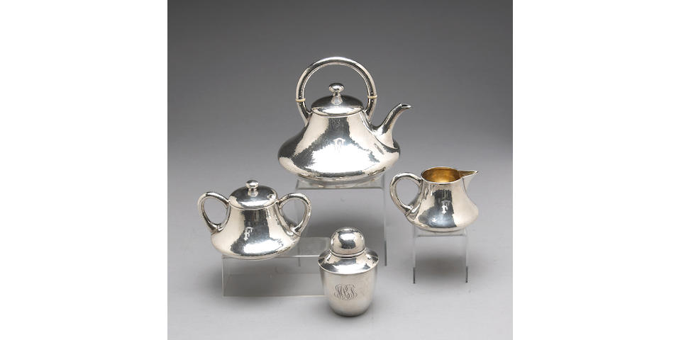 Sterling Three Piece Tea Set by Shreve & Co.