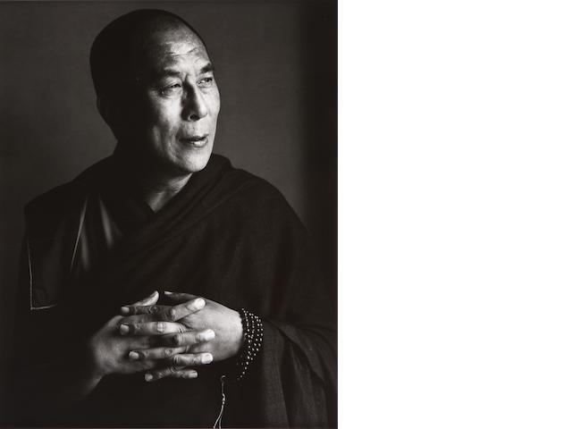 Herb Ritts (American, 1952-2002); His Holiness, the Dalai Lama, New York;