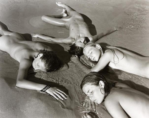 Jock Sturges (American, born 1947); Gaelle, Marine, Jeanne et Alexandre, Montivalet, France;