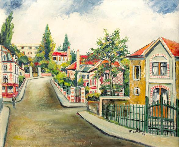 Elisée Maclet (French, 1881-1962) Vaucresson rue Aubriet, 1923 18 x 21 1/2in (45.7 x 54.6cm)