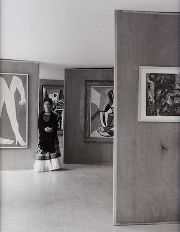 Manuel Alvarez Bravo (Mexican, 1902-2002); Frida Kahlo at the Picasso Exhibit, Mexico;
