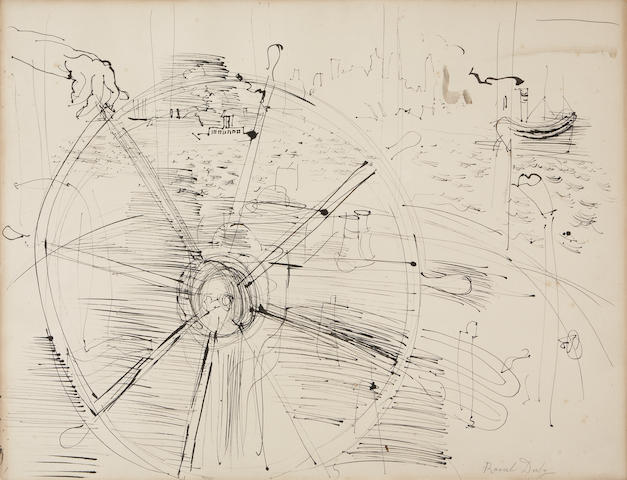Raoul Dufy (French, 1877-1953) Scene de port, c. 1937 19 7/8 x 26in (50.5 x 66cm)