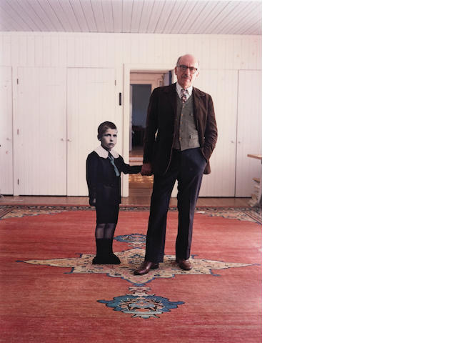 Evelyn Hofer (American, born 1937); Saul Steinberg, with himself as a Little Boy, Long Island;