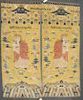A pair of Chinese runners size approximately 9ft. 3in. x 3ft. 3in.
