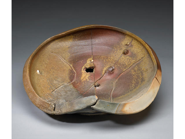 Peter Voulkos (American, 1924-2002) Untitled (Plate), 1979 (CR782.0-W) diameter 21in (53cm)