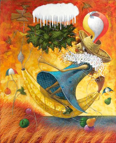 Ulises Bretaña Hevia (Cuban, born 1957) El maravilloso viaje de Gimena, 2007 39 x 31 1/4in unframed