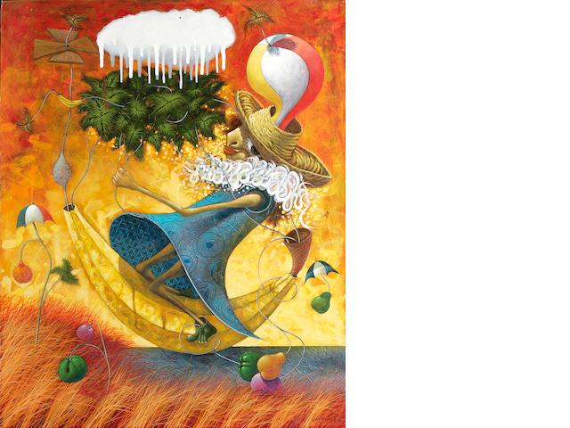 Ulises Bretaña Hevia (Cuban, born 1957) El maravilloso viaje de Gimena, 2007 39 x 31 1/4in (99 x 79.5cm)