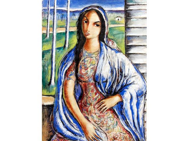 Victor Manuel (Cuban, 1897-1969) Mujer 30 1/4 x 22 1/4in (77 x 56cm)