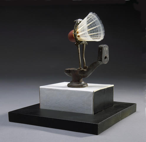 Man Ray (American, 1890-1976) Radar, 1966 8 x 5 x 4 1/4 (20.3 x 12.8 x 10.8cm) base 3/4 x 8x 9in (2 x 20.2 x 22.9cm)