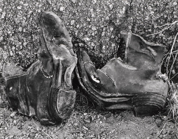 Edward Weston (American, 1886-1958); Shoes from Abandoned Soda Works, Owens Valley;