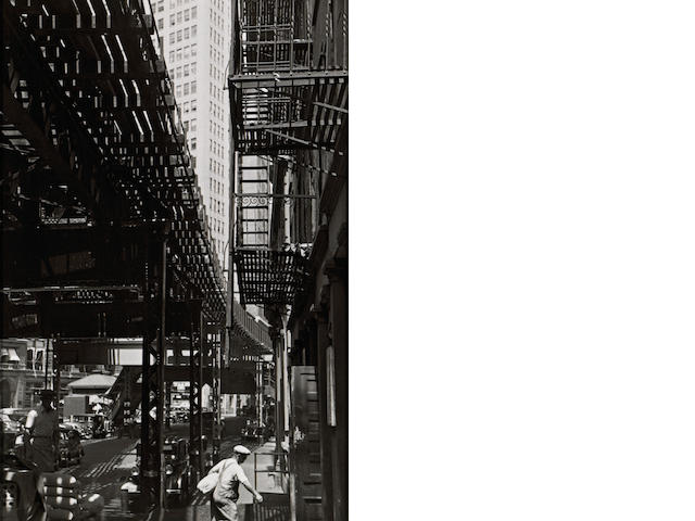 André Kertész (Hungarian/American, 1894-1985); Third Avenue El, New York;