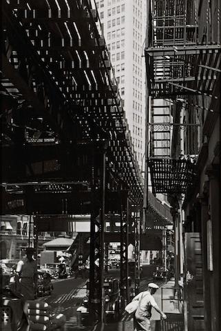 André Kertész (Hungarian/American, 1894-1985); Third Avenue El, New York;