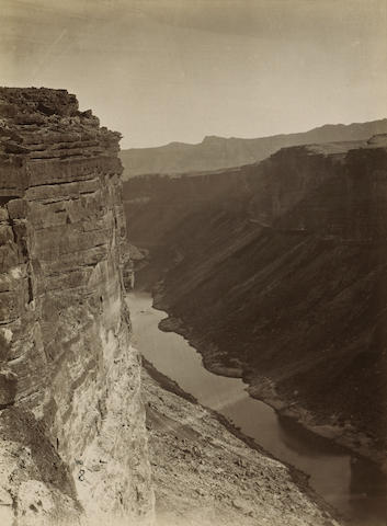 William Bell (American, 1830-1910); Grand Cañon, Colorado River, near Paria Creek, Looking East;