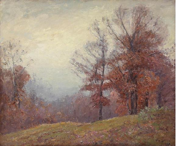 T.C. Steele, Landscape, o/panel