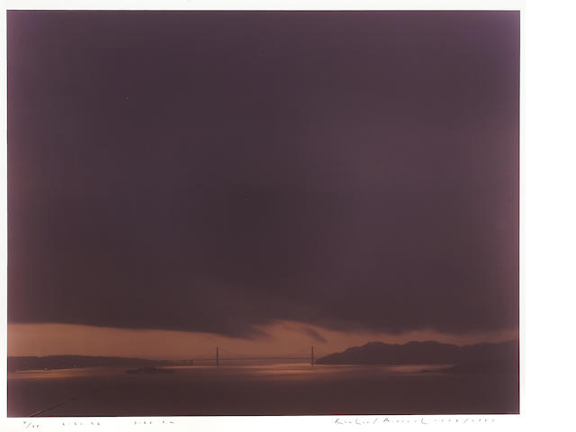 Richard Misrach (American, born 1949); Golden Gate Bridge, 2.21.98, 5:55pm;
