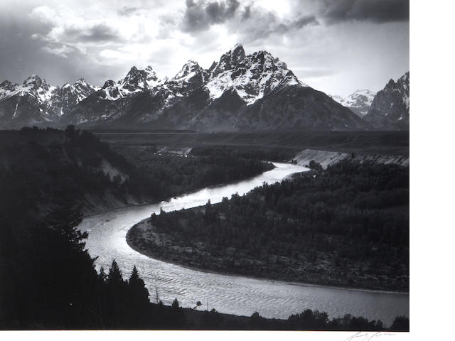 Ansel Adams (American, 1902-1984); The Tetons and the Snake River, Wyoming;