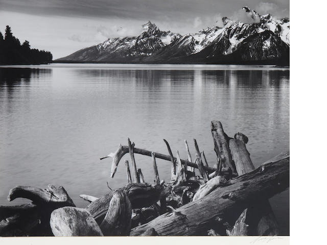 Ansel Adams (American, 1902-1984); Jackson Lake and the Tetons;
